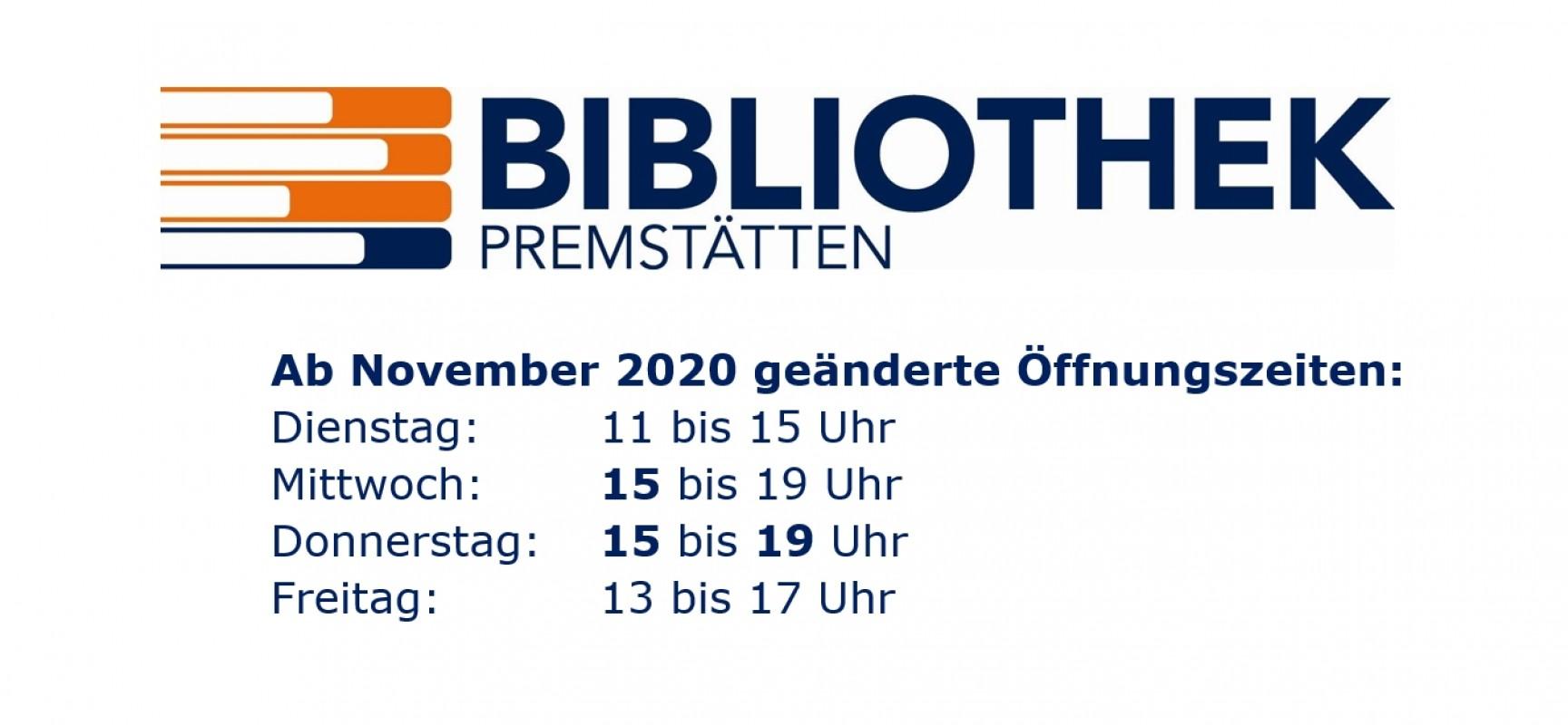 Neue Öffnungszeiten seit November 2020